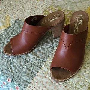 Toms Leather Heels 8.5